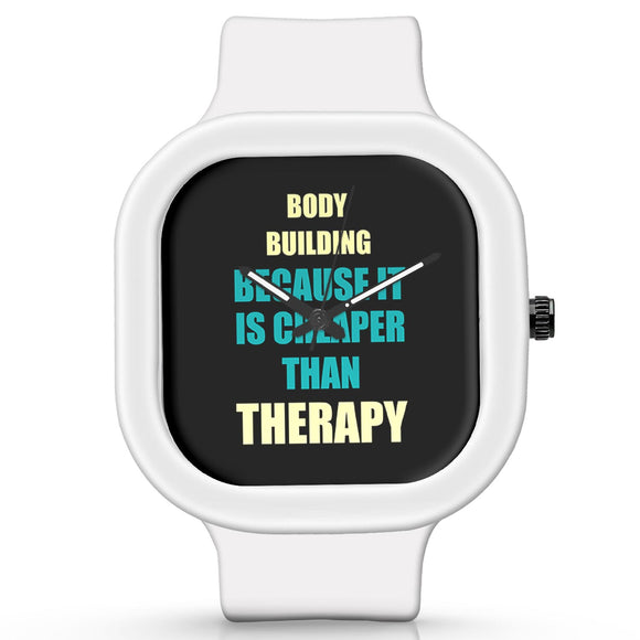 Unisex Men And Women Wrist Watch India | Body Building Because It Is Cheaper Than Therapy Silicone Unisex Wrist Watch For Men And Women Online India