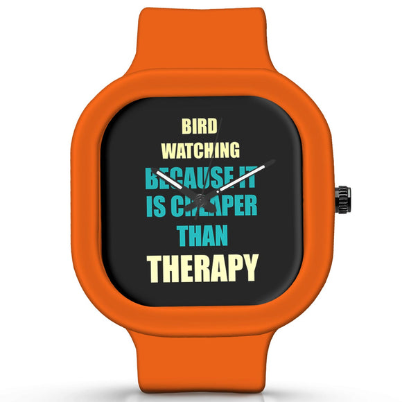 Unisex Men And Women Wrist Watch India | Bird Watching Because It Is Cheaper Than Therapy Silicone Unisex Wrist Watch For Men And Women Online India