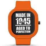 Unisex Men And Women Wrist Watch India | Born in 1945 Aged To Perfection Silicone Unisex Wrist Watch For Men And Women Online India