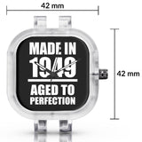Unisex Men And Women Wrist Watch India | Born in 1949 Aged To Perfection Silicone Unisex Wrist Watch For Men And Women Online India
