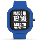 Unisex Men And Women Wrist Watch India | Born in 1956 Aged To Perfection Silicone Unisex Wrist Watch For Men And Women Online India