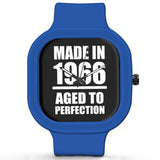 Unisex Men And Women Wrist Watch India | Born in 1966 Aged To Perfection Silicone Unisex Wrist Watch For Men And Women Online India