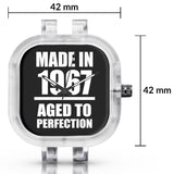 Unisex Men And Women Wrist Watch India | Born in 1967 Aged To Perfection Silicone Unisex Wrist Watch For Men And Women Online India