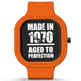 Unisex Men And Women Wrist Watch India | Born in 1970 Aged To Perfection Silicone Unisex Wrist Watch For Men And Women Online India
