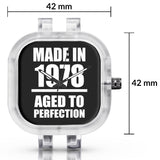 Unisex Men And Women Wrist Watch India | Born in 1978 Aged To Perfection Silicone Unisex Wrist Watch For Men And Women Online India