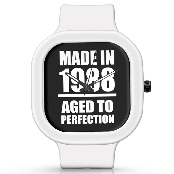 Unisex Men And Women Wrist Watch India | Born in 1988 Aged To Perfection Silicone Unisex Wrist Watch For Men And Women Online India