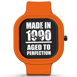 Unisex Men And Women Wrist Watch India | Born in 1990 Aged To Perfection Silicone Unisex Wrist Watch For Men And Women Online India