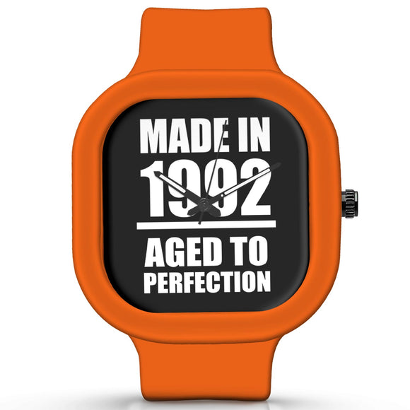 Unisex Men And Women Wrist Watch India | Born in 1992 Aged To Perfection Silicone Unisex Wrist Watch For Men And Women Online India