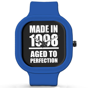 Unisex Men And Women Wrist Watch India | Born in 1998 Aged To Perfection Silicone Unisex Wrist Watch For Men And Women Online India