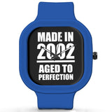 Unisex Men And Women Wrist Watch India | Born in 2002 Aged To Perfection Silicone Unisex Wrist Watch For Men And Women Online India