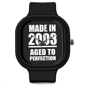 Unisex Men And Women Wrist Watch India | Born in 2003 Aged To Perfection Silicone Unisex Wrist Watch For Men And Women Online India