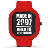 Unisex Men And Women Wrist Watch India | Born in 2007 Aged To Perfection Silicone Unisex Wrist Watch For Men And Women Online India