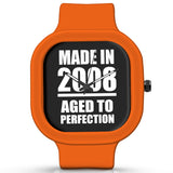 Unisex Men And Women Wrist Watch India | Born in 2008 Aged To Perfection Silicone Unisex Wrist Watch For Men And Women Online India