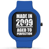 Unisex Men And Women Wrist Watch India | Born in 2009 Aged To Perfection Silicone Unisex Wrist Watch For Men And Women Online India