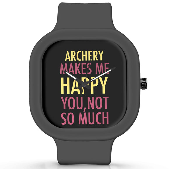Unisex Men And Women Wrist Watch India | Archery Makes Me Happy, You Not So Much Silicone Unisex Wrist Watch For Men And Women Online India