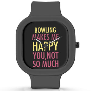 Unisex Men And Women Wrist Watch India | Bowling Makes Me Happy, You Not So Much Silicone Unisex Wrist Watch For Men And Women Online India