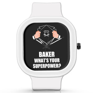 Unisex Men And Women Wrist Watch India | Baker What's Your Superpower? Silicone Unisex Wrist Watch For Men And Women Online India