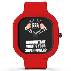 Unisex Men And Women Wrist Watch India | Accountant What's Your Superpower? Silicone Unisex Wrist Watch For Men And Women Online India
