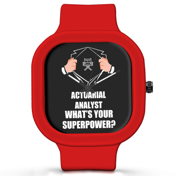 Unisex Men And Women Wrist Watch India | Actuarial Analyst What's Your Superpower? Silicone Unisex Wrist Watch For Men And Women Online India