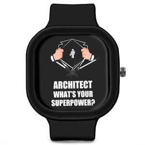 Unisex Men And Women Wrist Watch India | Architect What's Your Superpower? Silicone Unisex Wrist Watch For Men And Women Online India