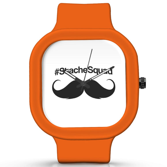 Unisex Men And Women Wrist Watch India | #stache squad Waterproof Silicone Unisex Wrist Watch For Men And Women  Online India