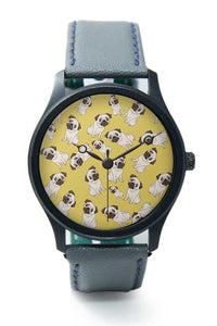 Wrist Watches India |Pug Life pattern  Premium Men Wrist WatchOnline India.