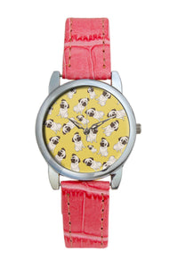 Pug Life Pattern  Women Wrist Watch