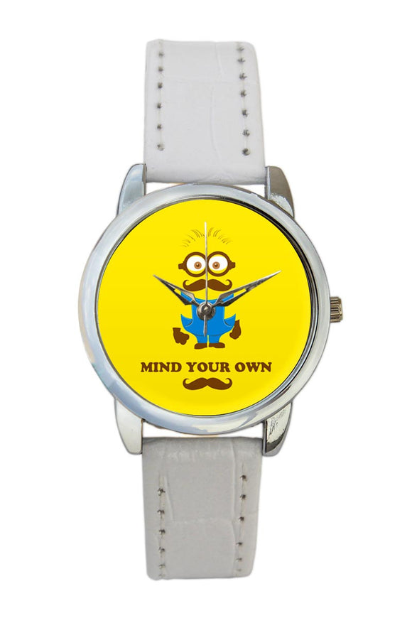 Mind Your Own Moustache Women Wrist Watch