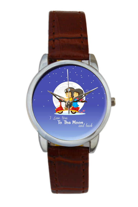 I Love You To The Moon And Back Women Wrist Watch