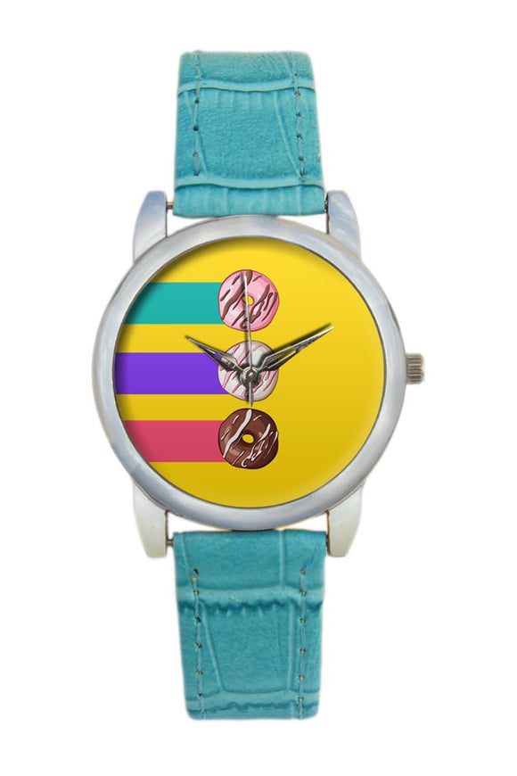 Cute Donuts Illustration Women Wrist Watch