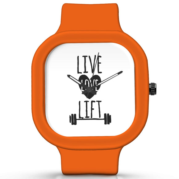 Unisex Men And Women Wrist Watch India |  Live Love Lift   Silicone Square Unisex Wrist Watch Online India