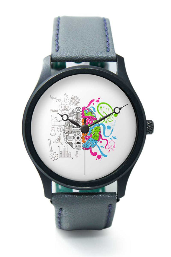 Wrist Watches India |Colorful Creative Brain art illustration Premium Men Wrist WatchOnline India.