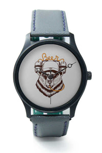 Wrist Watches India |Party bear quirky illustration Premium Men Wrist WatchOnline India.