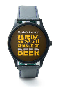 Wrist Watches India |Beer Forecast quirky  Premium Men Wrist WatchOnline India.