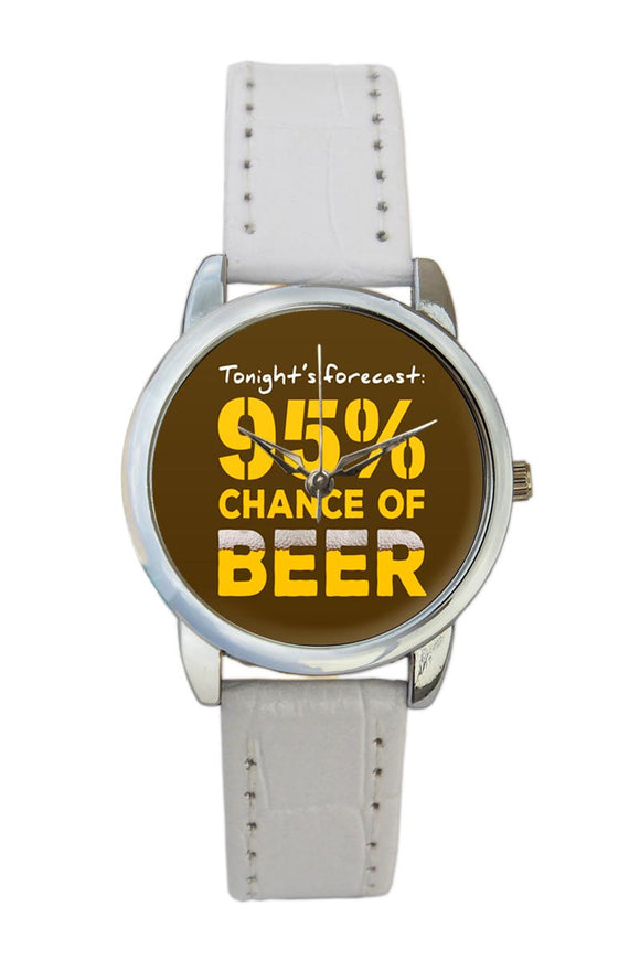 Beer Forecast Quirky  Women Wrist Watch