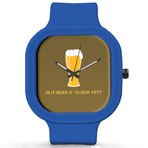 Unisex Men And Women Wrist Watch India |  Beer O Clock   Silicone Square Unisex Wrist Watch Online India