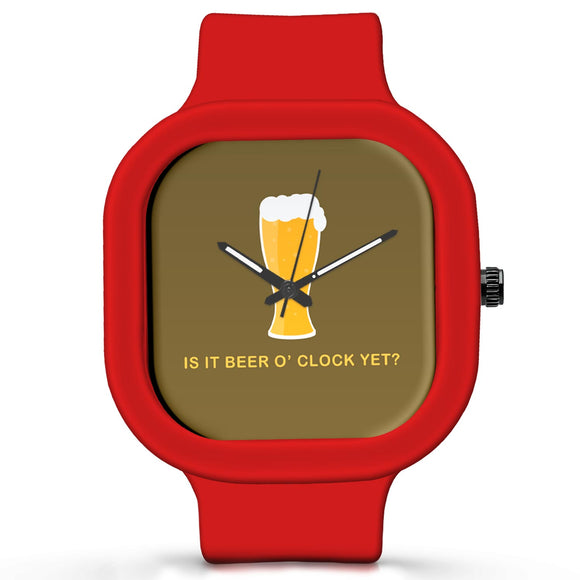 Unisex Men And Women Wrist Watch India | Beer O Clock Waterproof Silicone Unisex Wrist Watch For Men And Women  Online India