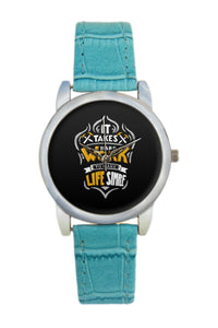 Work Hard Motivational Typography Women Wrist Watch