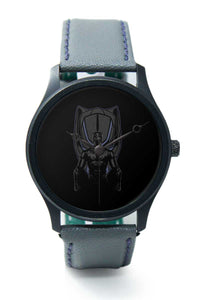 Wrist Watches India |Black Panther Illustration Premium Men Wrist WatchOnline India.