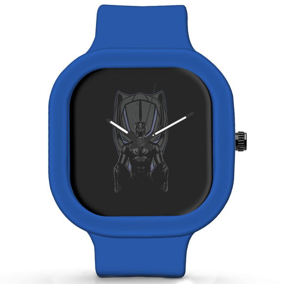 Unisex Men And Women Wrist Watch India | Black Panther Illustration Waterproof Silicone Unisex Wrist Watch For Men And Women  Online India