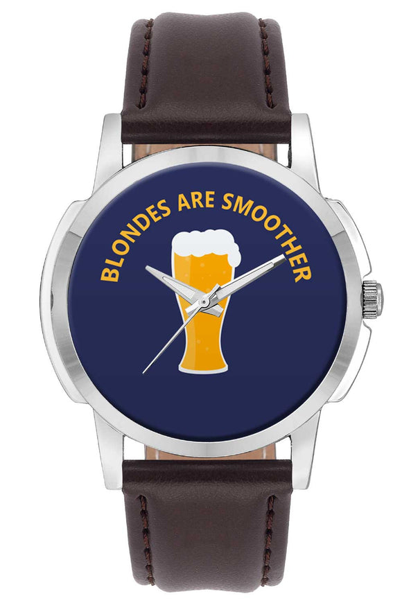 Wrist Watches India | blondes are Smoother Quirky Illustration Wrist Watch Online India.