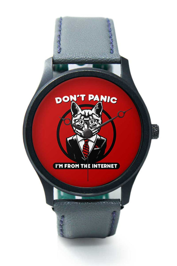 Wrist Watches India |Dont Panik I am From Internet Premium Men Wrist WatchOnline India.