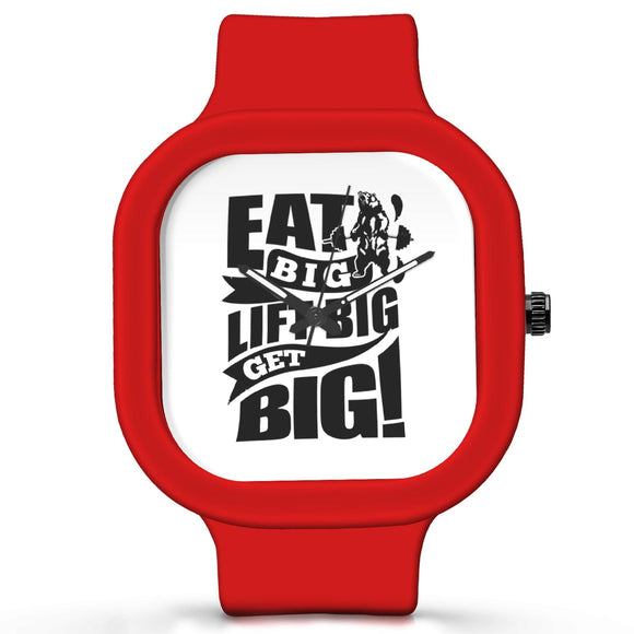 Unisex Men And Women Wrist Watch India |  Eat Big   Silicone Square Unisex Wrist Watch Online India