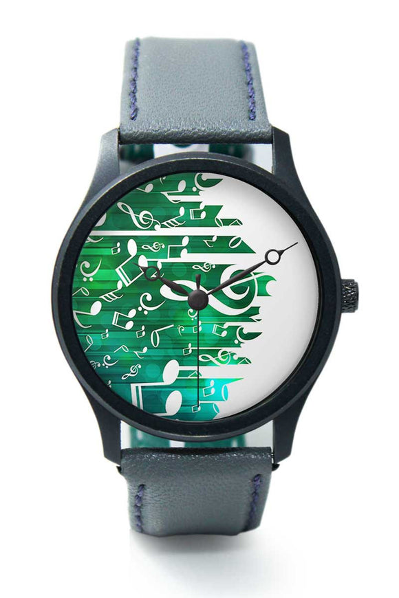 Wrist Watches India |Falling Notes Illustration Premium Men Wrist WatchOnline India.