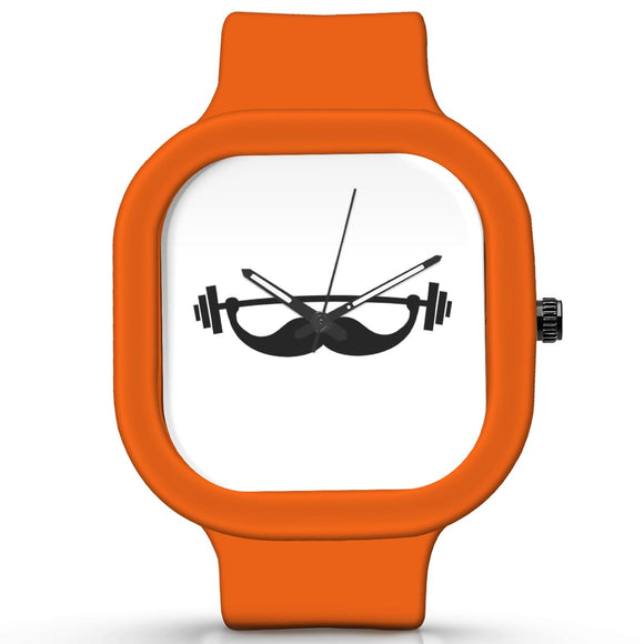 Unisex Men And Women Wrist Watch India |  Fitness Mustache   Silicone Square Unisex Wrist Watch Online India