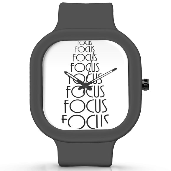 Unisex Men And Women Wrist Watch India |  Focus Illustration   Silicone Square Unisex Wrist Watch Online India
