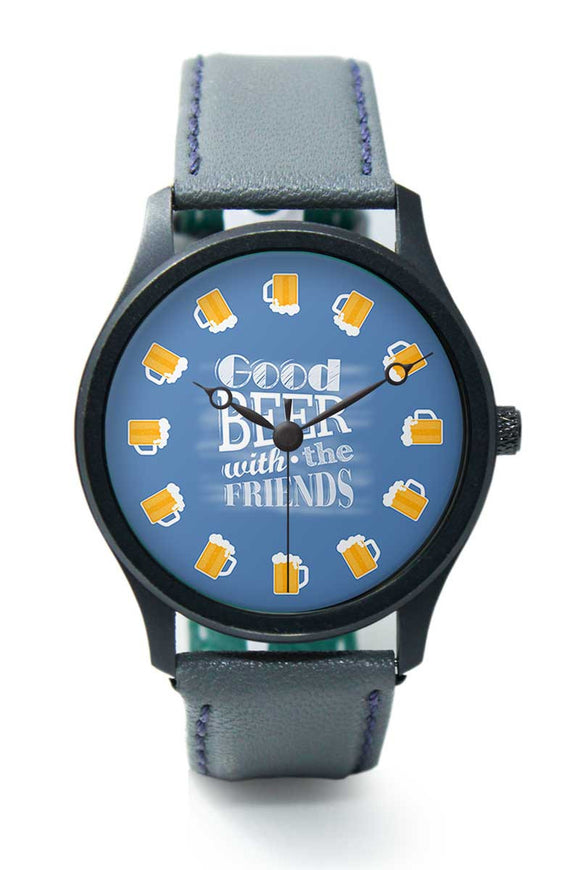 Wrist Watches India |Good Beer With The Friends Premium Men Wrist WatchOnline India.