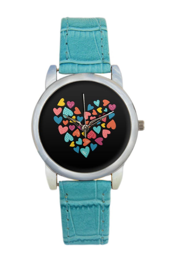 Colorful Hearts Women Wrist Watch