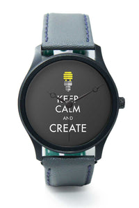Wrist Watches India |keep Calm And Create Premium Men Wrist WatchOnline India.