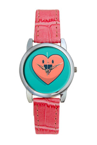 Happy Heart  Women Wrist Watch